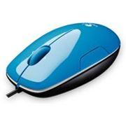 Logitech LS1, лазерная, 3 кнопки + скролл, мини, USB, AQUA, голубой, 910-001109 фото