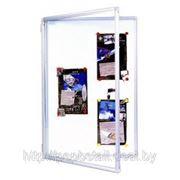 Доска — витрина 60*90 белая, полимер фото