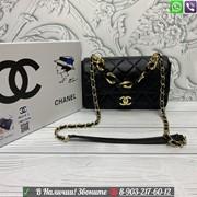 Сумка Chanel клатч с цепочкой Шанель черный фото