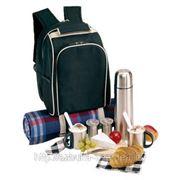 Рюкзак для пикника на 2 персоны с комплектом металлических столовых приборов фото