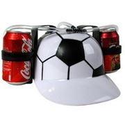 Каска с подставкой под банки Футбол фото