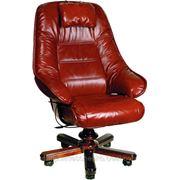 Кожаное кресло руководителя СТАТУС Extra с механизиои трансформации фото