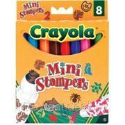 8 фломастеров мини-штамп с домашними животными, Crayola фото