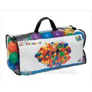 Шарики для сухих бассейнов Intex в сумке 100шт. диаметр 8см фото