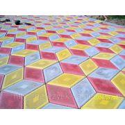 Изготовление тротуарной плитки,бордюров,желобов. фото