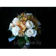 Свадебный букет Оранжевая альстромерия фото
