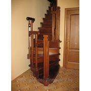 Изготовление лестниц из массива дуба, бука, сосны. фото