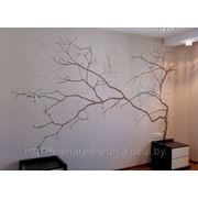 Отличная роспись. Спальня, дерево. фото