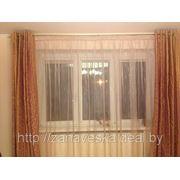 Штора. Органза на шторной ленте. фото