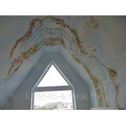 Художественная роспись стен, потолков, арок, рельефный рисунок фото