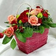 Поздравительная весенняя флористика, посвященная празднику 8 марта фото