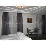 Дизайнерское оформление окна (текстильный декор) фото