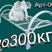 Кровать металлическая АРТ-007 (двойное усиление каркаса, увеличенный диаметр трубы) фото