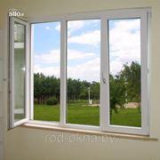 Окно ПВХ 1800*3100 пластиковое в зал ческой планировки фото