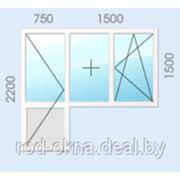 Окно (ПВХ) плаcтиковое + балконная дверь в спальню или кухню ческой планировки. 2200*2250 фото