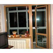 2300*1700окно ПВХ+ балконная дверь в комнату ческой планировки с ламинацией фото