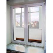 Окно ПВХ 1800*1800 пластиковое в спальню ческой планировки. фото