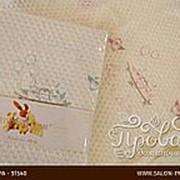 Плед детский для новорожденных Tivolyo Home HAPPY хлопок бежевый 85х90 фото