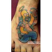 Татуировка Гомер (минимальный сеанс) фото