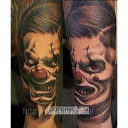 Татуировка Клоун(1.5 сеанса) фото