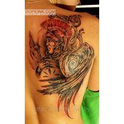Татуировка Спартанец (2 сеанса) фото