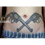 Татуировка Револьверы (2 сеанса) фото