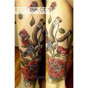 Татуировка Цветы и Рогатка (3 сеанса) фото
