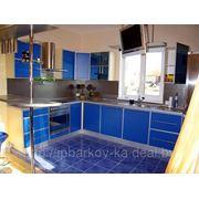 Кухня пластик с алюминевой кромкой фото
