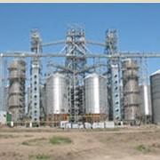Промышленное строительство - цех грануляции лузги с емкостями для хранения гранул и пунктом отгрузки на ЖД фото