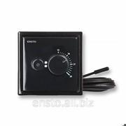 Терморегулятор комбинированный с датчиками пола-воздуха Intro, черный, Ecointro16frsw фото