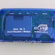 Кардридер Gembird (FD2-ALLIN1) ALL in 1 синий USB, код 4520 фото