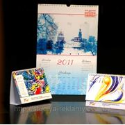 Настенные перекидные календари А4, А3, А2 с вашим логотипом фото