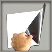 Печать на бумаге с магнитным слоем фото
