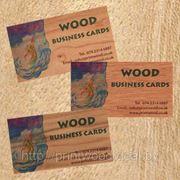 Визитные карточки отпечатанные на дереве фото