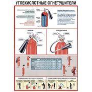 """Плакат """"Углекислотные огнетушители"""" фото"""