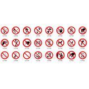 Запрещающие таблички, предупреждающие таблички фото