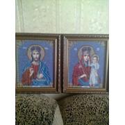 Вышивка картин Пара Господь Вседержитель и МБ Призри на смирение фото
