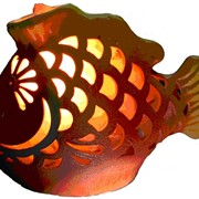 Соляная лампа Золотая рыбка большая 2кг фото