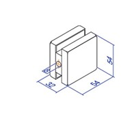 Фурнитура, Коннектор стена-стекло ST-210B фото