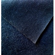 Футер 2-нитка с начесом (76% хлопок 24% п/э) темно-синий фото