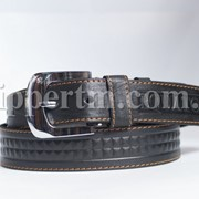Кожаный ремень для джинсов 40мм фото