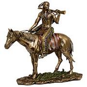 Скульптура Индеец на коне 20,5х20х9см. арт.WS-440 Veronese фото