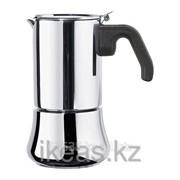 Эспрессо-кофеварка на 6 чашек, нержавеющая сталь РОДИГ фото