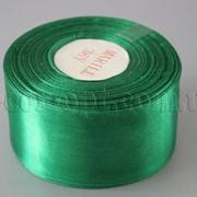 Лента атласная зеленая 5,00 см 36ярд 19 4052 фото