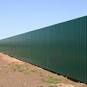 Забор из профнастила под ключ фото