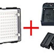 Светодиодный накамерный видео свет DOF C200 + зарядное устройство + 2 аккумулятора (C200) 250 фото