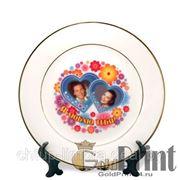 Услуга печати на тарелке + тарелка фото