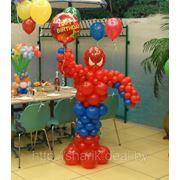 Человек паук из шаров. арт.01 фото