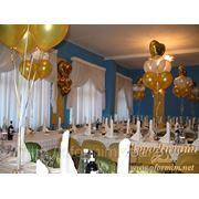 Композиции из шаров с гелием фото