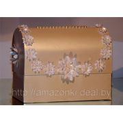 Прокат свадебных аксессуаров. Сундучок для денег (15 х 22 х 27 см) фото